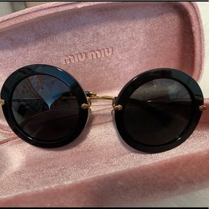 Miu Miu Accessories - Miu Miu Black Mu 13ns C49 Sunglasses